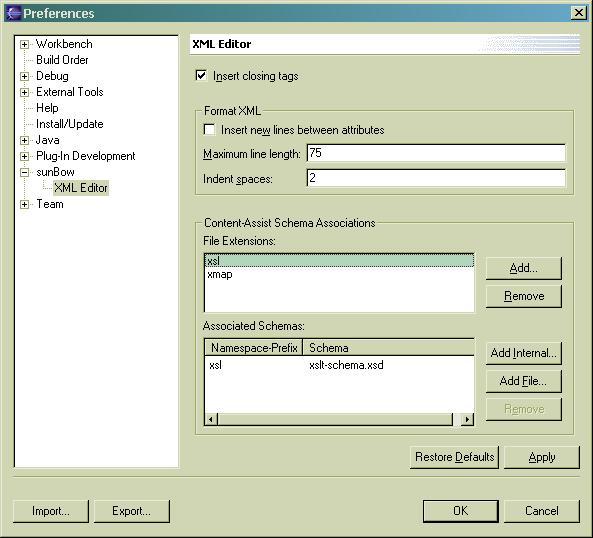 sunBow plug-in documentation