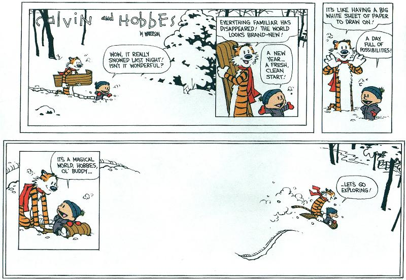 Calvin and Hobbes ended on December 31st, 1995 at the height of its...